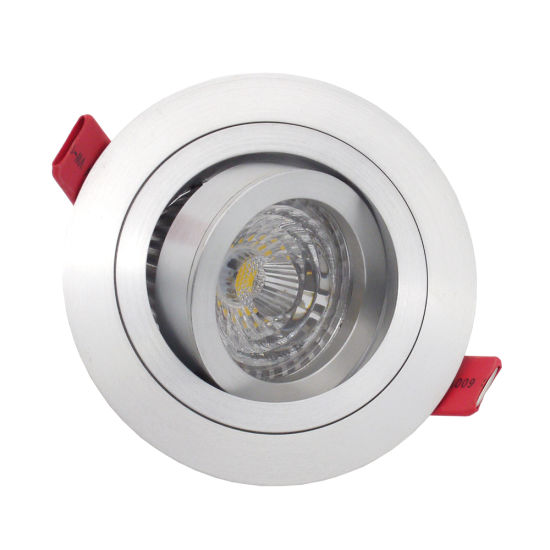 Lathe Aluminum GU10 MR16 Round Tilt Recessed LED Downlight (LT2300)