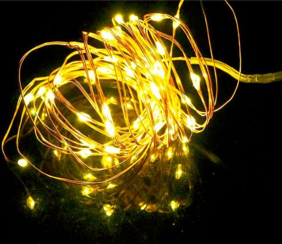 wholesale 100 copper wire outdoor christmas led decorative lights