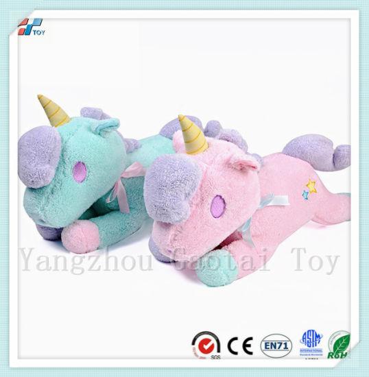 28bb1ece9b65 Ce Certificated Stuffed Unicorn Animal Lying Down Creative Tissue Box Toy  Home Decoration Toy ...