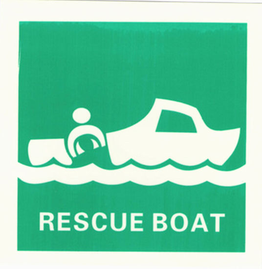 Marine Luminescent Signs Rescue Boat Imo Symbols