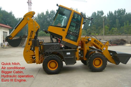 New Small Backhoe Wheel Loader (WZ45-16) with Big Cabin