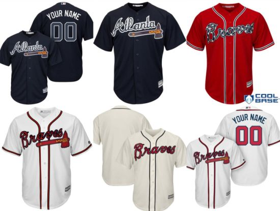 8159bc20b China Customized Atlanta Braves Home Road Cool Base Baseball Jerseys ...