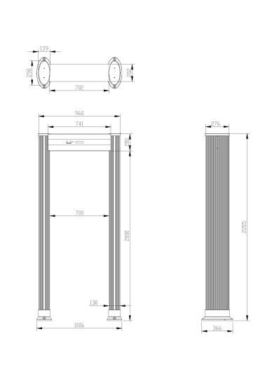 Elliptic Column Door Frame Security Walk Through Metal Detector pictures & photos