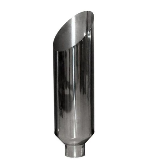 "Universal Aluminized Steel Diesel Performance Muffler 7/"" Tall 4/"" Inlet Ram"