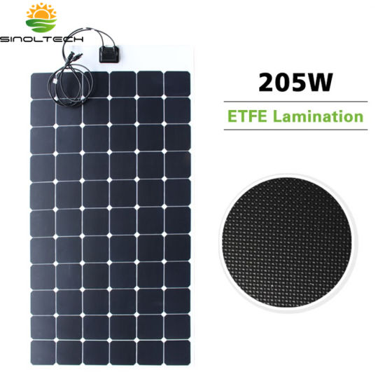 ETFE Laminate Sunpower Cell 205W Semi Flexible Solar Panel with 8 Years Warranty (SF-205)