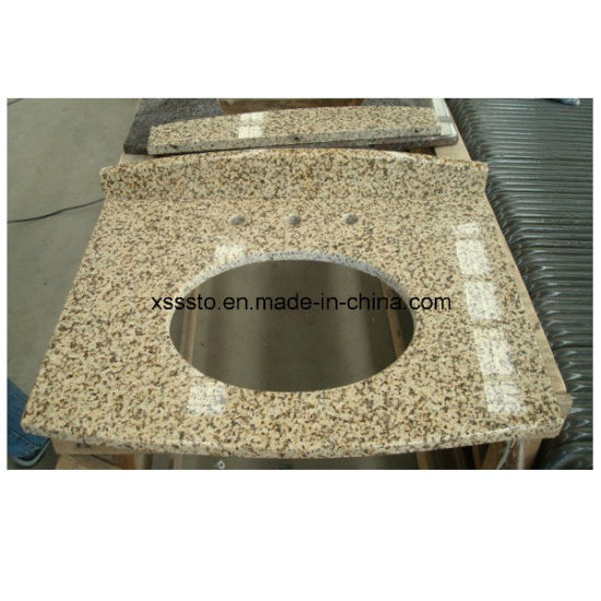 Stylish Yellow Granite Vanity Tops with Competitive Price pictures & photos
