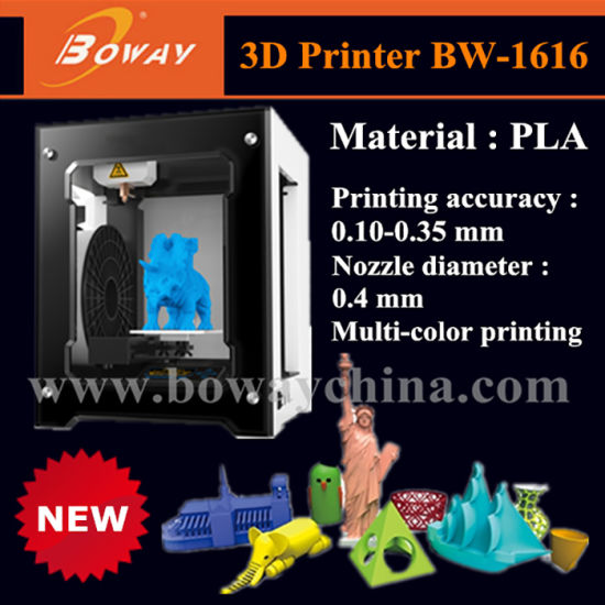 Boway Small Mini Home Personal Desktop DIY PLA Multi Color 3D Printing Machine Printer Price pictures & photos