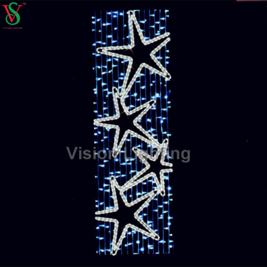 Christmas Tree Light LED Pole Street Motif Lighted Christmas Tree pictures & photos