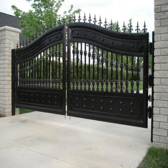 Elegant Decoratived Metal Front Entrance Wrought Iron Driveway Gate