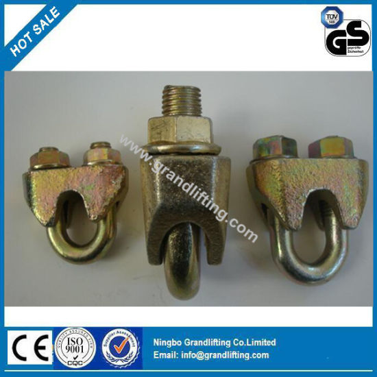 Yellow Galvanized Wire Rope DIN 1142 Clips pictures & photos