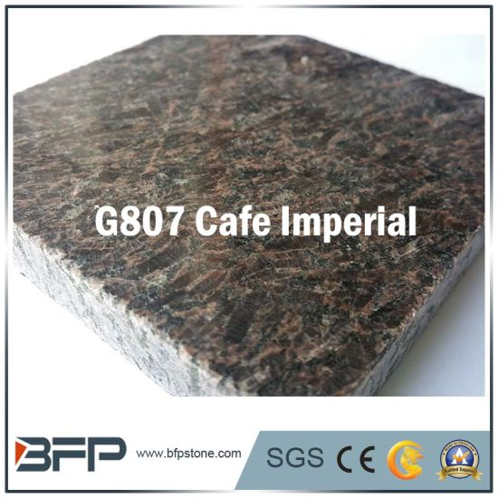 Wholesale Cafe Imperial Polished Granite Stone Tile For Kitchen Countertops