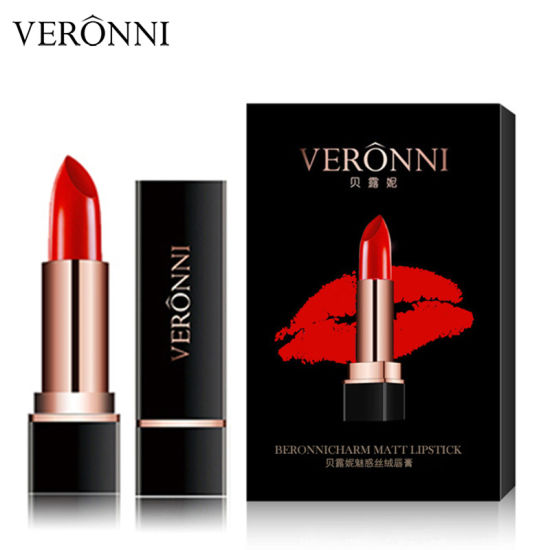 Hot Sale Cosmetics Makeup VERONNI 4 Colors Charm Velvet Matte Lipstick Waterproof Long-Lasting Lipstick pictures & photos