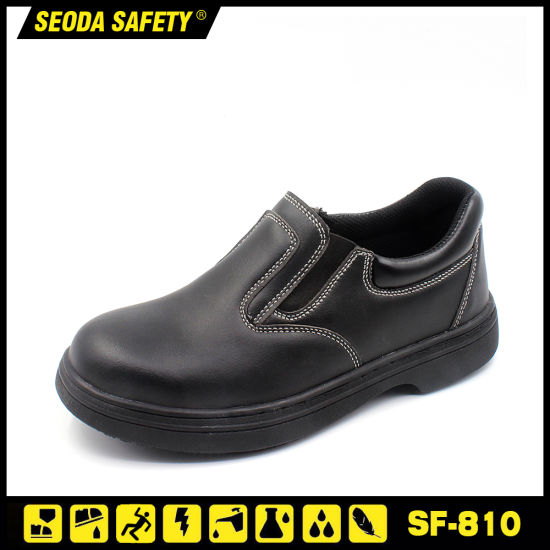 Microfiber Leather Safety Shoe Without Lace for Chef pictures & photos