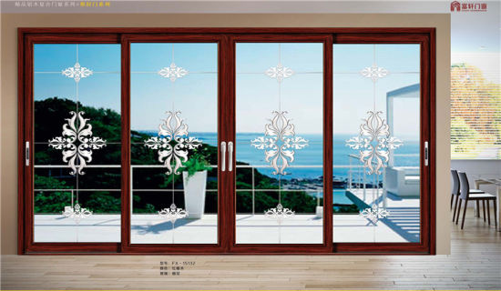 Commercial Standard Design Aluminum Sliding Door pictures & photos