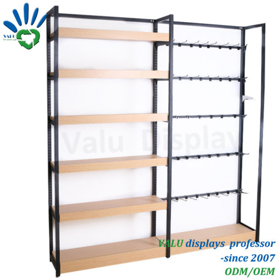 Retail Store Metal Rack Floor Food Snack Biscuit Chips Merchandiser POS Supermarket Display Shelves pictures & photos