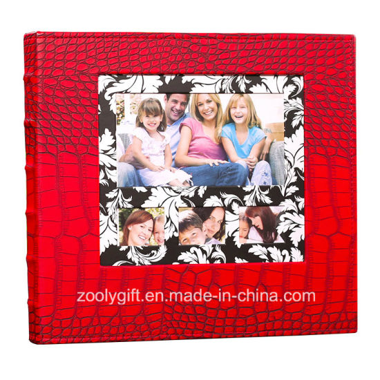 China Red Crocodile Leather 4x6 Slip In 600 Photo Albums Wedding