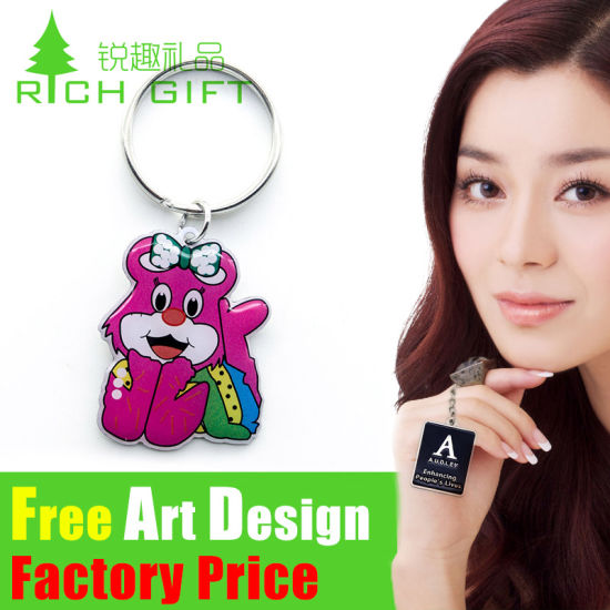 Factory Direct Sale High Quality USA Custom Souvenir Keychain pictures & photos