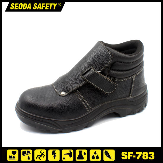 Industrial Welding Fireproof Safety Work Shoes for Welder Rubber Sole