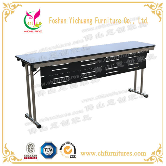 Yc-T14A Folding Stainless Steel Conference Office Table with Modesty Panel Baffle pictures & photos