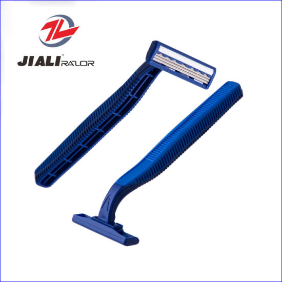 High Quality Triple Blade Disposable Shaving Razor (4PCS/card) pictures & photos