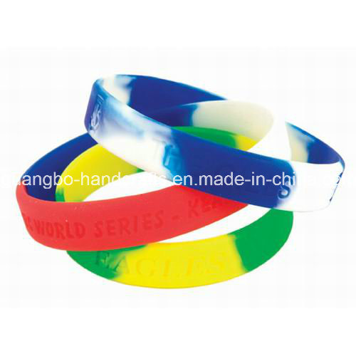 Custom Woven Fabric Silicone Wristbands/Festival Wristbands pictures & photos