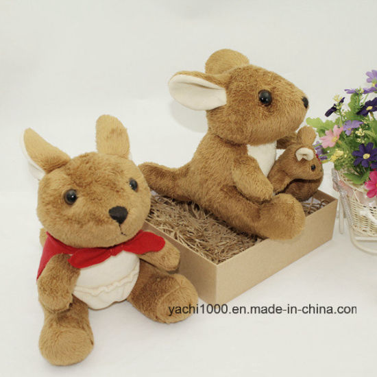 Soft Plush Kangaroo Toy with Baby pictures & photos