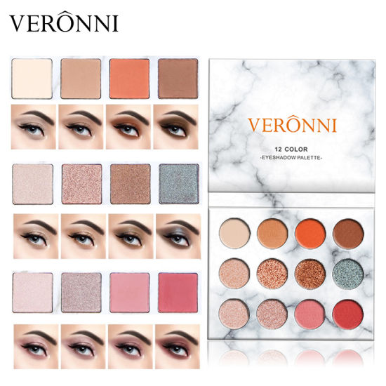 High Quality! OEM 12 Colors Eye Shadow Marble Private Label Eyeshadow Palette pictures & photos