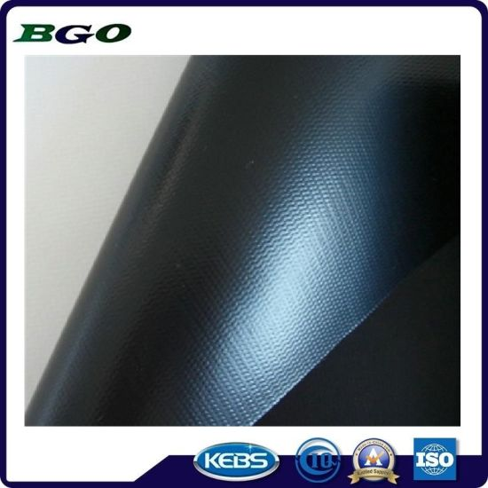 PVC Cold Laminated Tarpaulin Tent Waterproof Fabric (500dx500d 9X9 440g) pictures & photos