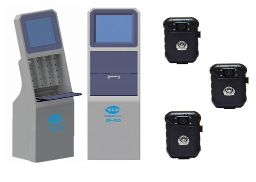 Police Camera Charging and Information Download Docking Workstation