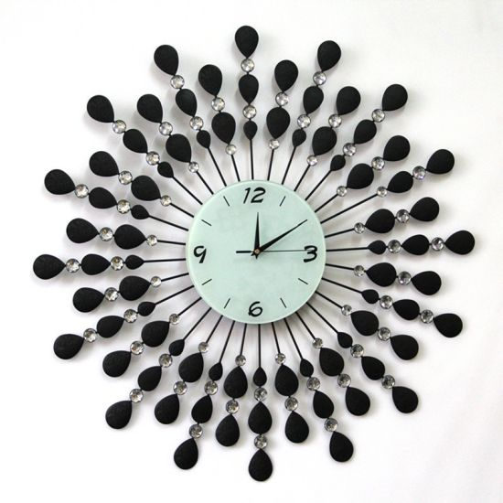 China Peacock Metal Clock Decorative Wall Clock Meta Clock China