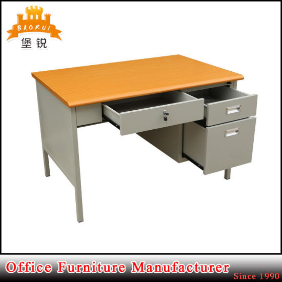 MDF Desktop Steel Single Cabinet Office Table pictures & photos