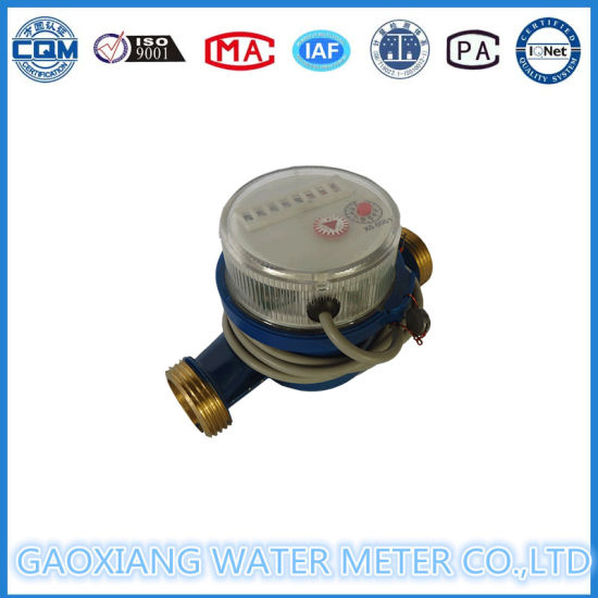 China Single Jet Water Meter with Pulse Output 1/2′′inch--1′′inch