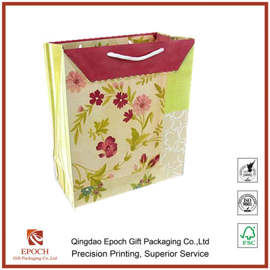 China Factory Price Wholesale Kraft Paper Shopping Bag Paper Gift