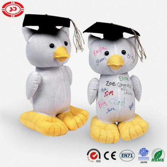 Sign Graduation Owl Fabric Stuffed Autograph Gift Cute Toy