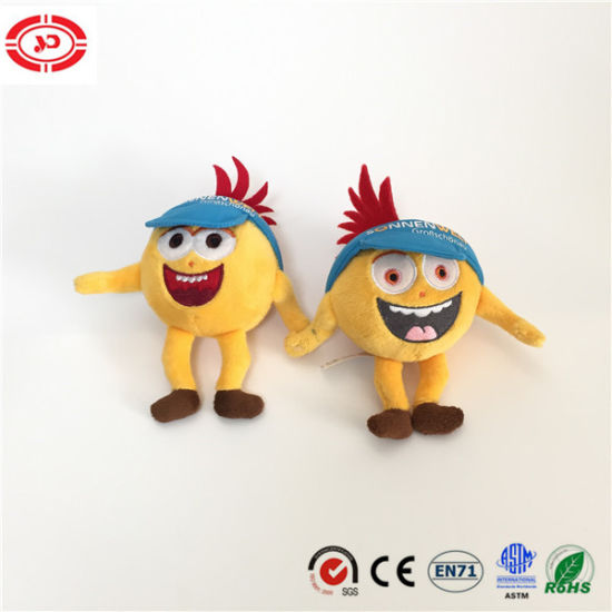 Yellow Tiny Doll Wear Hat Cute Happy Plush Embroidery Toy