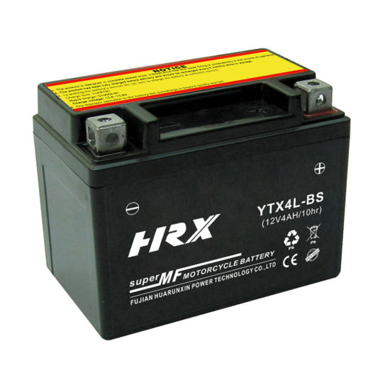 High Quality Ytx4l-BS 12V4ah Maintenance Free Lead Acid Motorcycle Battery