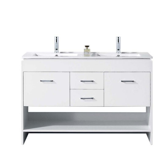 China Floating Wood Bathroom Vanity With Mirror Cabinet And Side