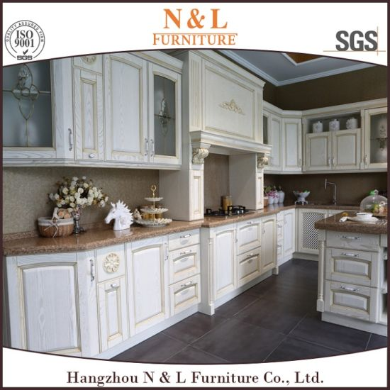 N L White Solid Wood Diy Kitchen Cabinet From China