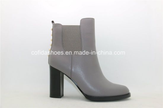 Latest Fashion Design High Heels Leather Lady Boots