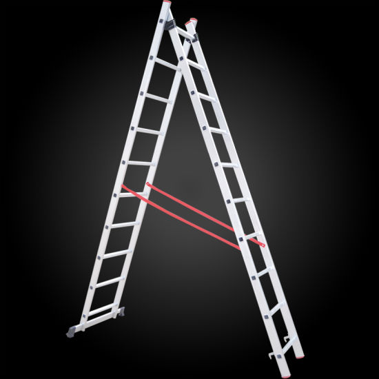 2 Section Multi-Purpose Extension Aluminum Step Ladder pictures & photos