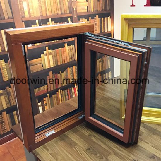Tilt Turn Window, Oak Wood Window with Exterior Aluminum Cladding