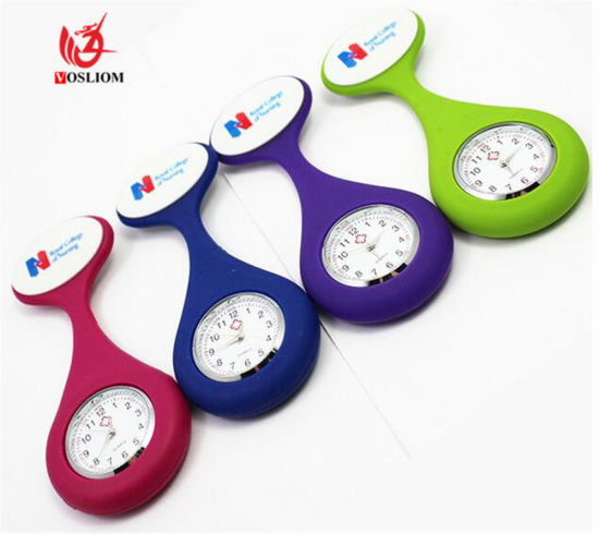 Fashion Nurses Watches Doctor Fob Watch Brooches Silicone Tunic Batteries Medical Nurse Women Watches Quartz with Clip Relogio #V253 pictures & photos