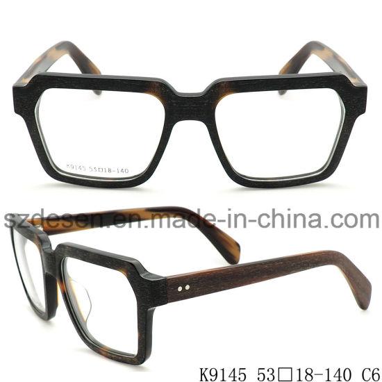 China Wholesale New Model Big Frame Acetate Optical Glasses Frame ...