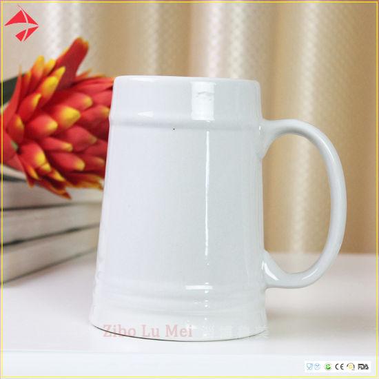 China Wholesale Custom Handmade Ceramic Beer Mugs with Hand - China