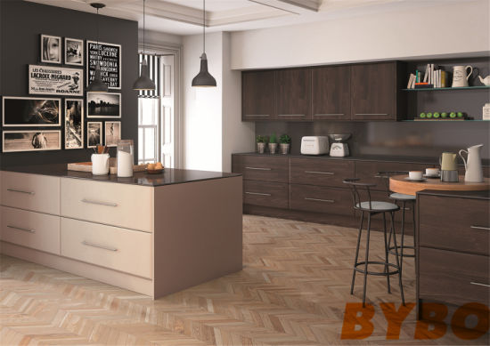Hot Item 2019 New Modern High Glossy Wood Kitchen Cabinet By L 06
