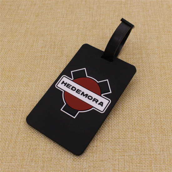 Certificate Past Custom 2D Logo Soft PVC Plastick Rubber Name/Luggage Tag pictures & photos