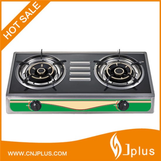 Black Colors Cast Iron Burner Gas Cooker Jp-Gc202