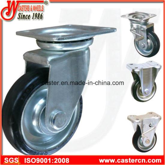 Japanese Style Industrial Steel Core Rubber Wheel Castor
