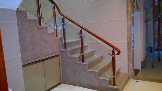 Superieur Modern Stainless Steel Glass Steel Wood Stair Handrail