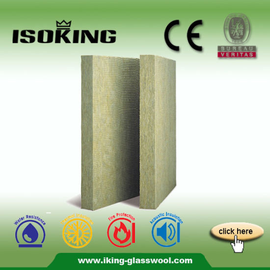 Rock Wool Felt with Aluminium Foil Fireproof Insulation Board pictures & photos
